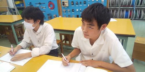 電気工事学習風景