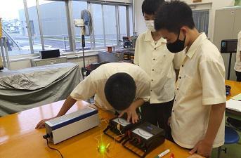 植物栽培用電球の点灯試験